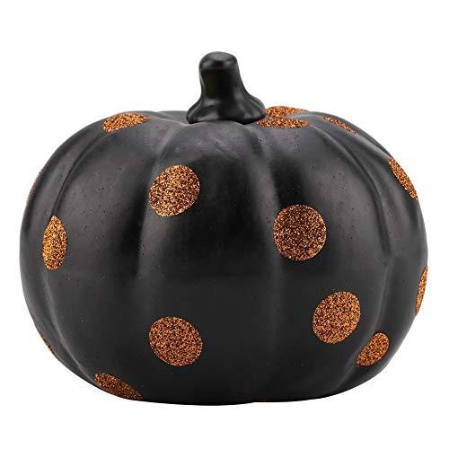 Haofy Dots Pattern Decorative Pumpkin for Halloween Autumn Fall Ornament Tabletop Decor PVC (#1) -