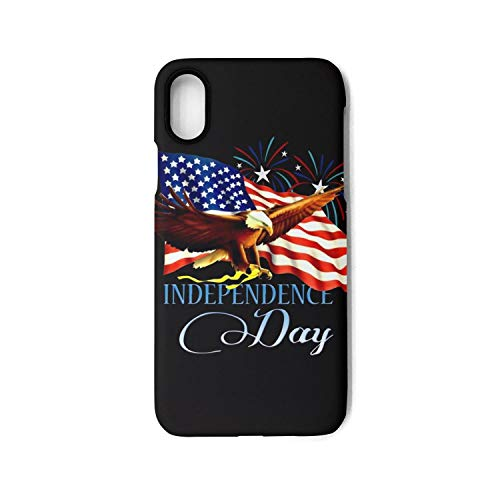 Phonerebey iPhone X/Xs Case,American Flag Bald Eagle Anti-Scratch Shockproof Slim Cover Case Compatible with Apple iPhone X/Xs Case,TPU Back Cover Case ()