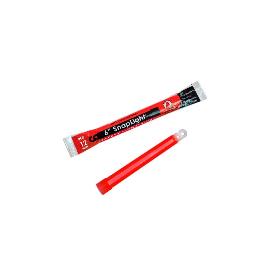 Cyalume SnapLight Red Glow Sticks – 6 Inch Industrial Grade, Ultra Bright Light Sticks with 12 Hour Duration (Pack of 10)