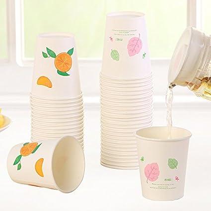 Desechables vasos de papel bebidas café leche de soja cola frutas leche té bebida caliente taza