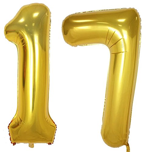 7 inch number balloons - 8