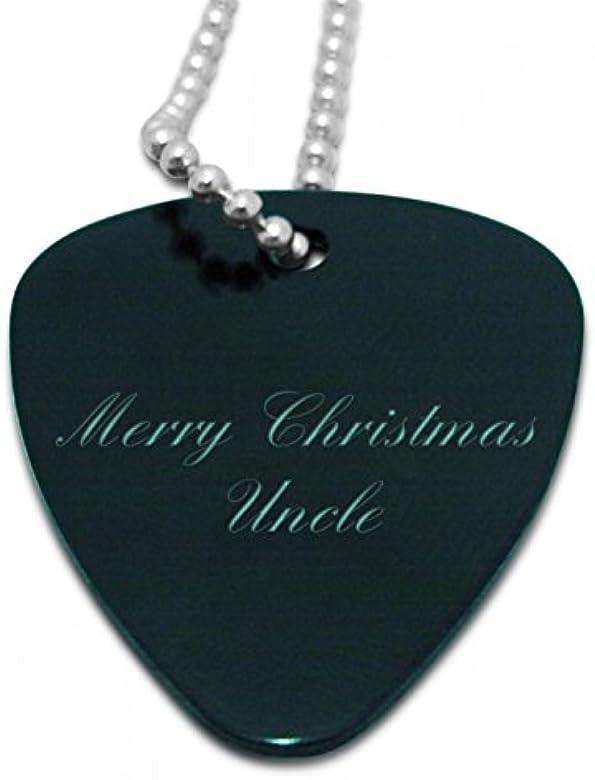 Feliz Navidad tío negro colgante en forma de púa de guitarra ...