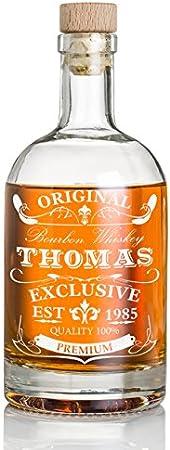 polar-effekt Botella de whisky personalizada de 700 ml con grabado – Regalo para hombres – Jarra de whisky con corcho – Diseño original exclusivo