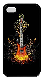 iPhone 4 4s Cases & Covers - 3D Guitar Custom TPU Soft Case Cover Protector for iPhone 4 4s - Black
