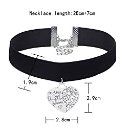 Tpocean 10 Pieces Vintage Black Velvet Gothic Tattoo Lace Stretch Choker Necklace Set Flowers Love Heart Necklaces for Women Girls Mother\'s Day Gift