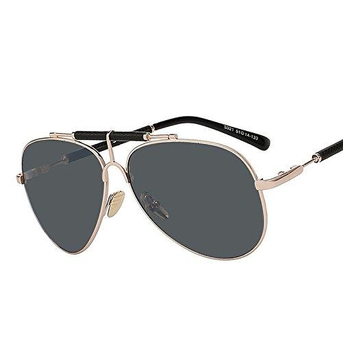 aa50985efb ... lentes de sol UV400 Durable Modelando. TIANLIANG04 Hombres nuevos en el  marco de metal de cuero Gafas Anteojos por hombre de alta