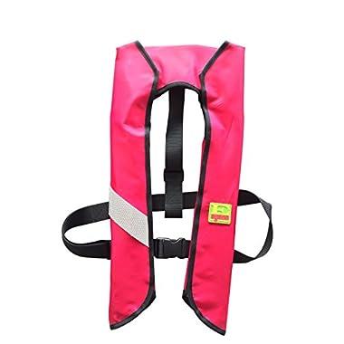 Eyson® Inflatable Life Jacket Life Vest Basic Manual (7091Red)