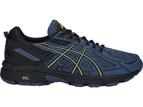 ASICS Men's Gel-Venture 6 MX Running Shoes, 11M, Grand Shark/NEON Lime