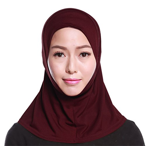 GladThink Womens Muslim Mini Hijab Scarf With More colors Wine
