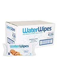 WaterWipes Sensitive Baby Wet Wipes, Natural & Chemical-Free, 12 packs of 60 Count (720 Wipes, Packaging May Vary]