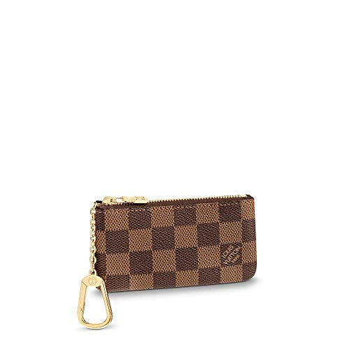 Luxurious Elegant Monogram Printing Pattern Key Case Practical Card Cover Leather Coin Purse Pocket Credit Card Slot for Women 12.0 x 7.0 cm