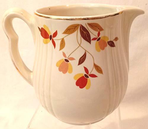 - Vintage Hall's Superior Quality Kitchenware Autumn Leaf Pitcher
