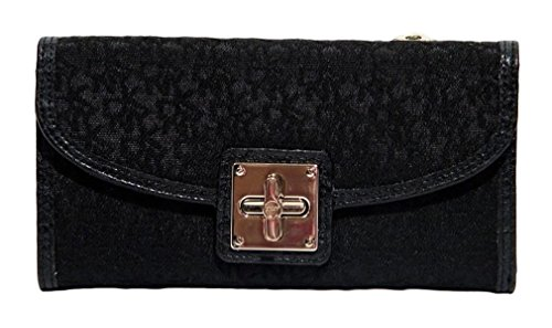 Large French Wallet - DKNY Signature Large French Wallet Bag - Black