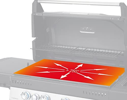 Campingaz Barbecue à Gaz Class 3 WLX, 3 Brûleurs, Puissance 9.6kW, Système de Nettoyage Facile InstaClean, Grille et Plancha, 2 Tablettes Latérales