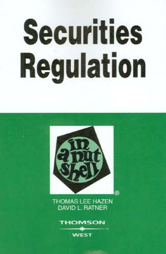 Securities Regulations in a Nutshell, (In a Nutshell (West Publishing))