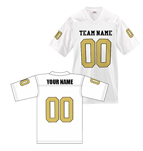 Custom Football Replica Team Jersey (Large, White)