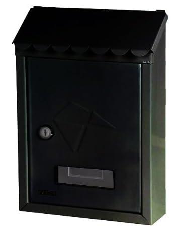 Maurer 3080540 Buzón Exterior 21x30x6,8 cm. Negro