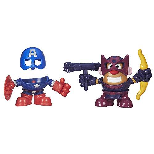 Playskool Mr. Potato Head Mixable, Mashable Heroes Captain America and Hawkeye