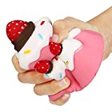 OVERMAL 11.5CM Jumbo Strawberry Cake Scented Super Slow Rising Kids Toy Cute