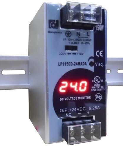 REIGNPOWER LP1150D-24MADA 150W 24VDC 6A Din Rail Power Supply Voltage Monitor Display ()