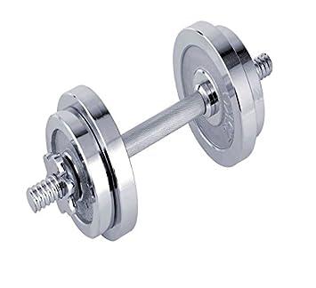 Nuevo ZUMZ 10 kg Chrome Acabado hierro fundido SPINLOCK juego de mancuernas cuerpo tonificación aeróbica BICEPS entrenamiento ...