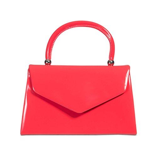 Xardi London Asa Superior patentes Mujer funda de novia bolsa de embrague señoras noche fiesta bolsos coral