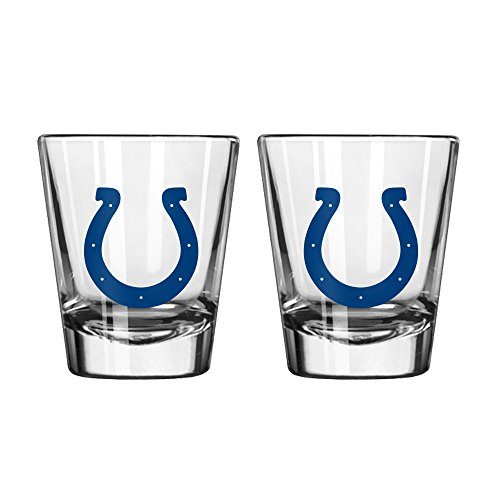 NFL Indianapolis Colts Game Day Shot Glass, 2-ounce, 2-Pack