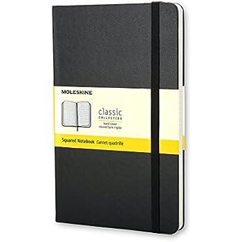 Moleskine Classic Notebook, Pocket, Squared, Black, Hard Cover (3.5 x 5.5) (Classic Notebooks)