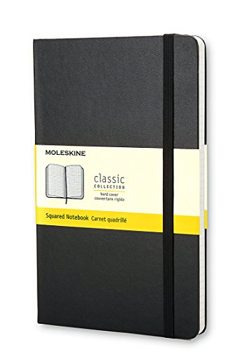 Moleskine Classic Notebook, Pocket, Squared, Black, Hard Cover (3.5 x 5.5) (Classic Notebooks)