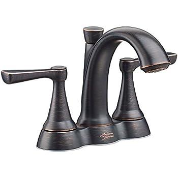 Marquette 4 In 2 Handle Low Arc Bathroom Faucet In Estate