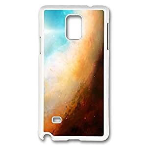 VUTTOO Rugged Samsung Galaxy Note 4 Case, Space Gas Cloud Colorful Hard Case for Samsung Galaxy Note 4 N9100 PC White