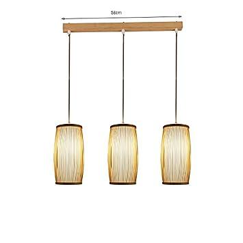 ANDEa Lámpara de bambú, barra de luces colgantes Restaurante ...
