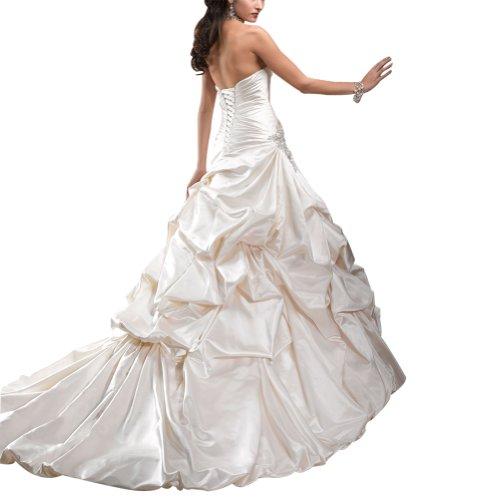 gefaltet Herz Elfenbein charmante GEORGE Brautkleid Ausschnitt BRIDE IgSwwqv