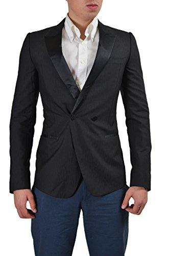 Versace Silk Wool Black Double Breasted Tuxedo Style Men's Blazer US 38 IT ()