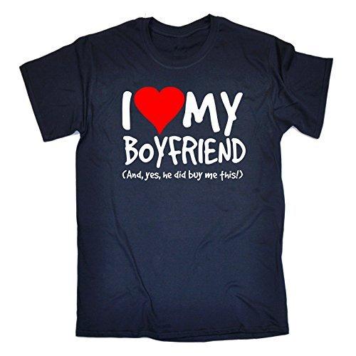 T liebe und hat dieses Freund 123t dunkelblaue meinen Shirt mir Ich jaer Mens gekauft Slogan wk0OP8nX