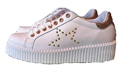 en Blanc Stella Mod Femme Vitamin 312 Baskets Fabriqué or rose Chaussures Italie Tu RTqw0RPS
