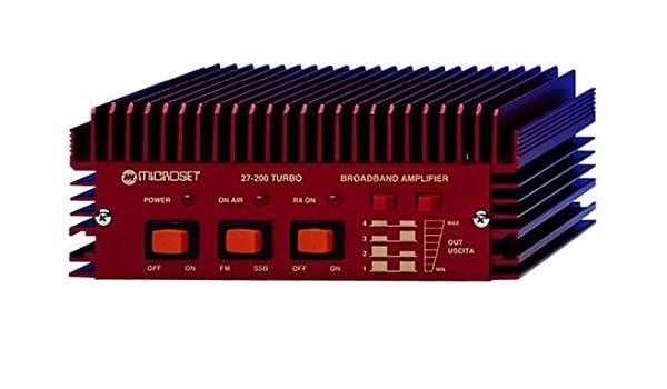 Amplificador Lineal HF 3 - 30 mhz 200 W Microset 27 - 200T: Amazon.es: Electrónica