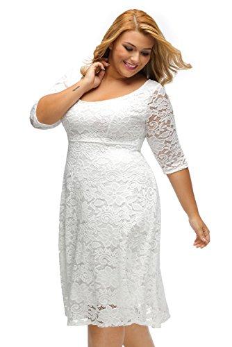 Carolina Dress Vestidos Tallas Grandes Plus Ropa De Moda Para Mujer Sexys Casuales Largos De Fiesta y Noche Elegantes Blancos at Amazon Womens Clothing ...