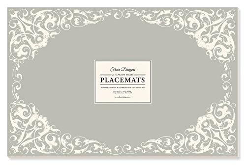 Faux Designs Paper Placemats - Charlotte
