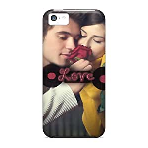 DreamDate Case Cover Protector Specially Made For Iphone 5c Love Is Like Rose