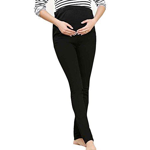 per matita di lunghi Donna incinta Nero primavera la pancia in di e cotone ansima La l'autunno pantaloni pq5qSP