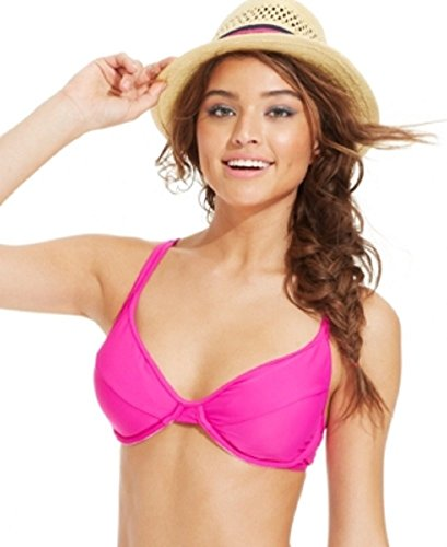 Hula Honey Underwire Bikini Top Women's Swimsuit pink D-Cup