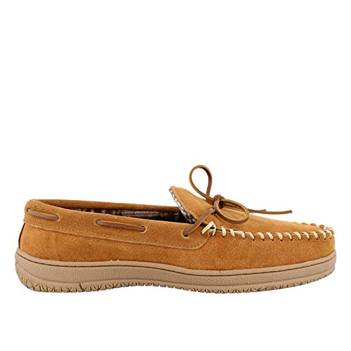 (Men's Clarks, Moccasin Slipper CINNAMON 11 M)