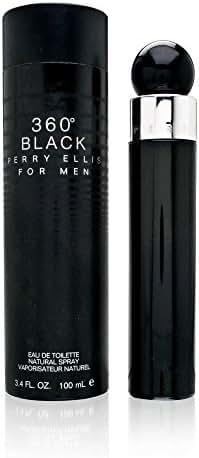 Perry Ellis 360 Black By Perry Ellis For Men. Eau De Toilette Spray 3.4 Ounces