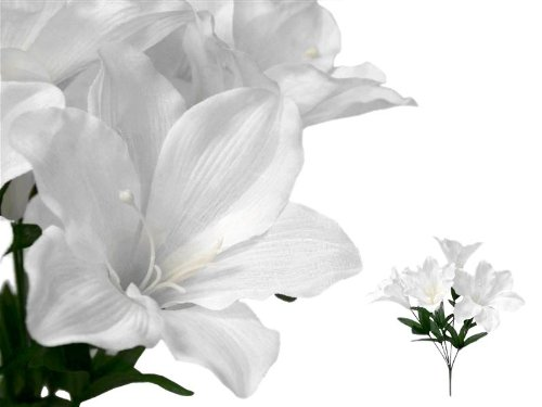 Tableclothsfactory 60 Easter Artificial Lilies Wedding Flowers Wholesale
