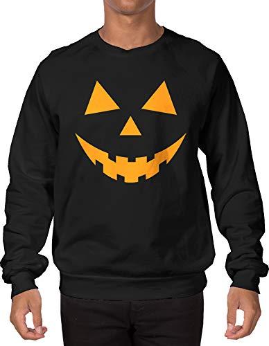 Pumpkin Face Adult Crewneck Sweatshirt