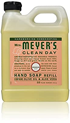33 Oz Liquid Hand Soap Refill Pouch with Geranium