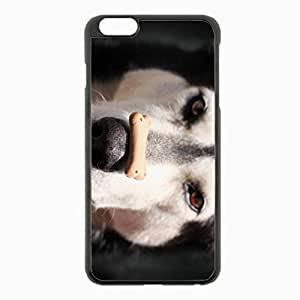 iPhone 6 Plus Black Hardshell Case 5.5inch - alaskan malamute dog nose spotted Desin Images Protector Back Cover