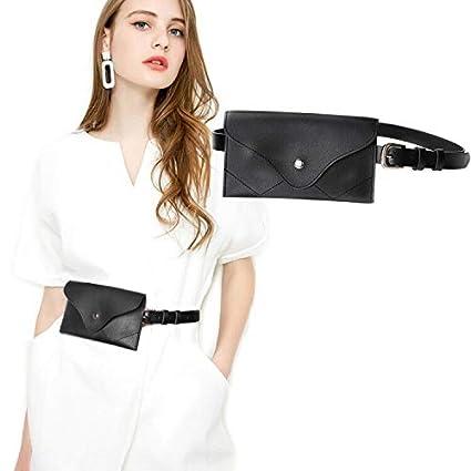 3e5ae48bdd8 Womens Tassel Waist Pouch Fashion Belt Bags Trendy Fanny Pack, Fits  Waistline 33-37 Inches, 2-Black