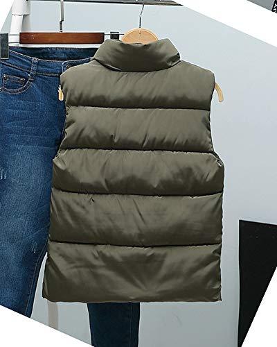 Manteau Ultra Doudoune Blouson Zippée Veste Gilet Femme Sans Vert Hiver Parka Manche Légère 4CwawqOxgH